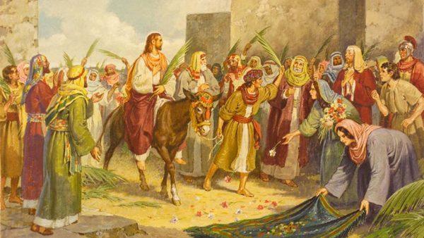 Патриаршая служба в храме Христа Спасителя в Вербное воскресенье