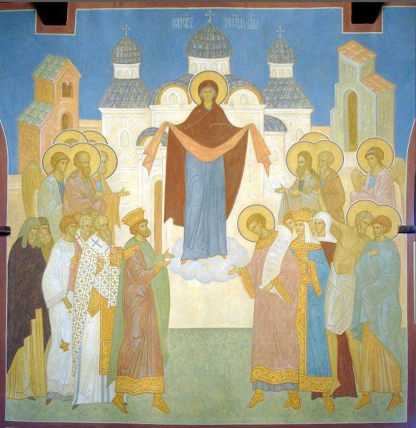 Очень сильная молитва перед иконой Покров Пресвятой Богородицы